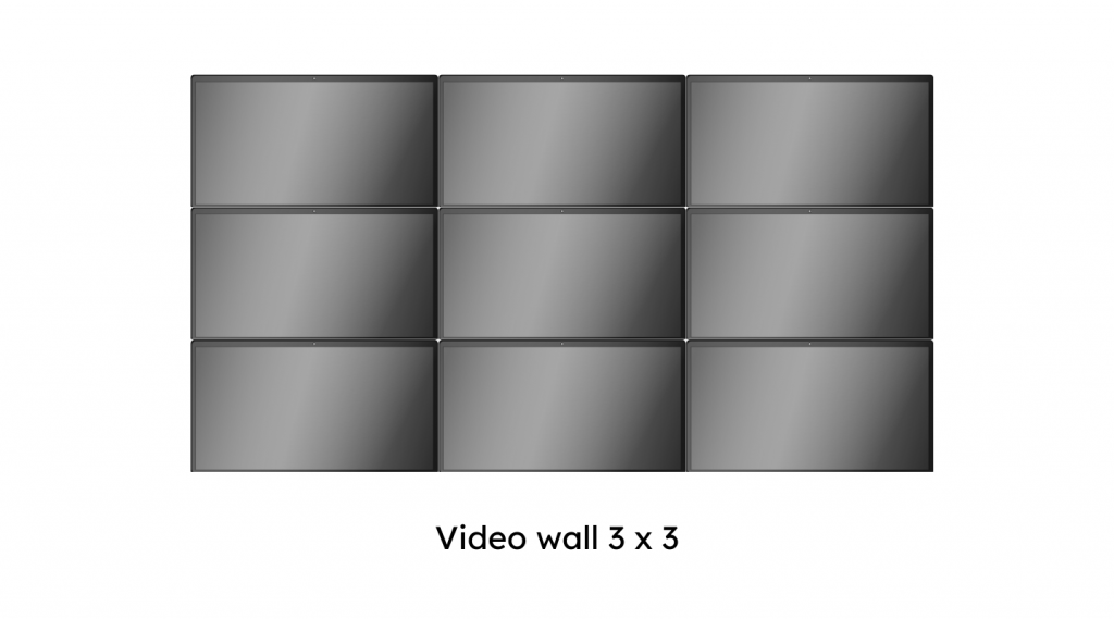 video wall 3 x 3