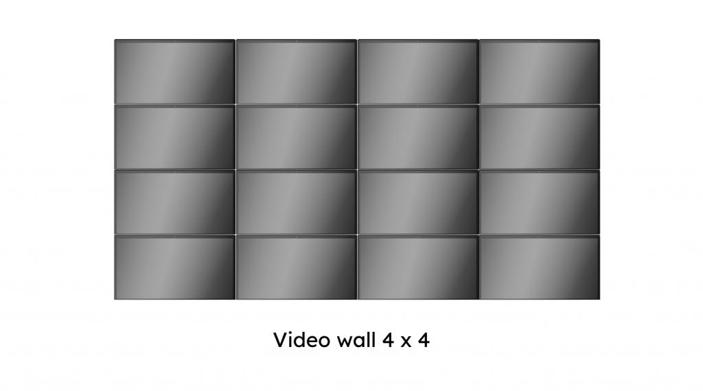 video wall 4 x4